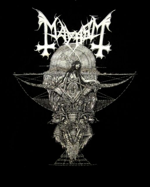 MAYHEM cd lgo TRINITY Official SHIRT XL New esoteric warfare