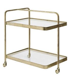 Servierwagen Glas heidi servierwagen gold metall glas küchenwagen shabby