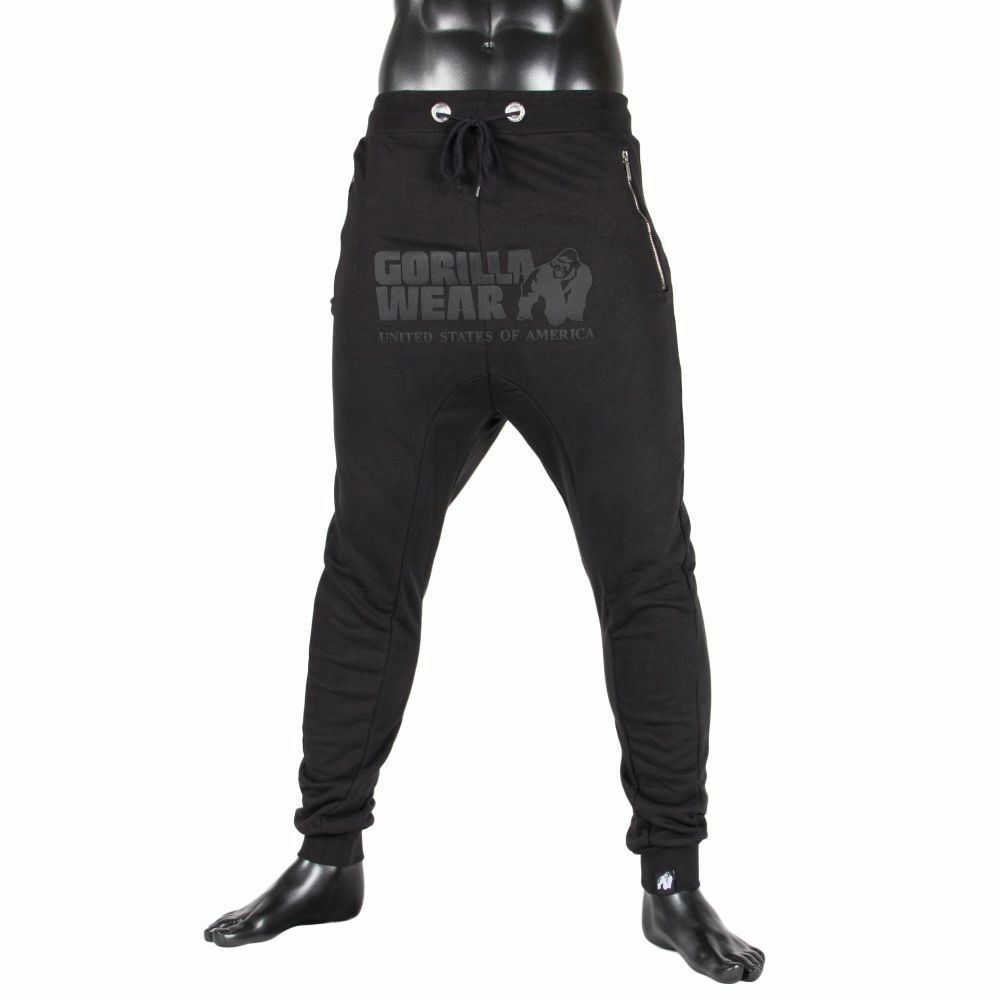 Gorilla Wear ALABAMA drop crotch Joggers nero