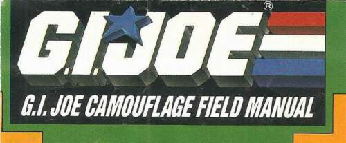 1988 GI Joe CAMOUFLAGE FIELD MANUAL insert face camo instructions Cobra JTC P785