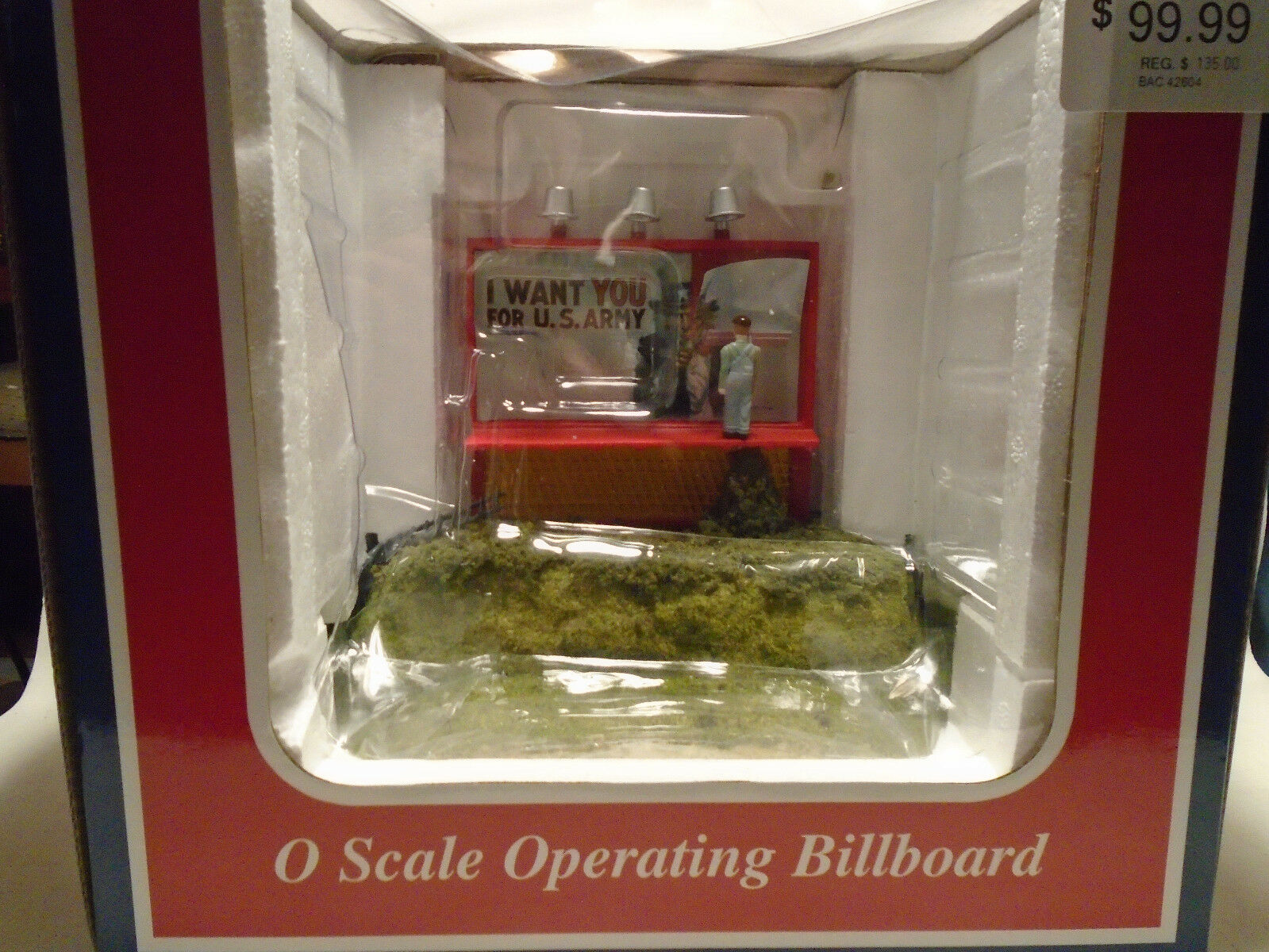 WILLIAMS  42604 O SCALE US ARMY WANTS YOU OPERATING BILLBOARD NEW IN BOX