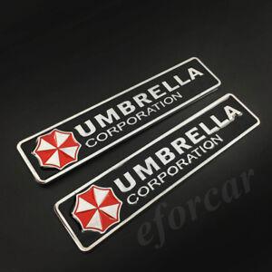 Metal Resident Evil Umbrella Corporation Car Auto Trunk Badge Emblem Car Sticker
