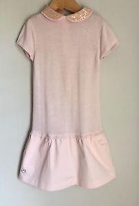Chateau-de-Sable-Pale-Pink-Drop-Waist-Girls-Dress-Size-3-4-Years-Sequin-Collar