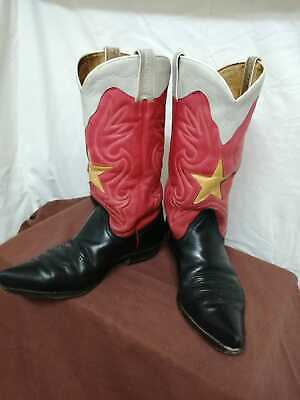 Westernstiefel/Cowboystiefel SANCOO, schwarz,rot,gelb,weiß ...