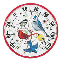 Acu-rite Song Bird Garden Yard Outdoor Thermometer 12 Diameter