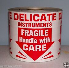 500 3x3 Delicate Instruments Fragile Label Sticker