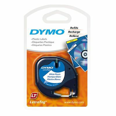 DYMO Letratag 12mm Plastic Label Printer Tape White - SD91201