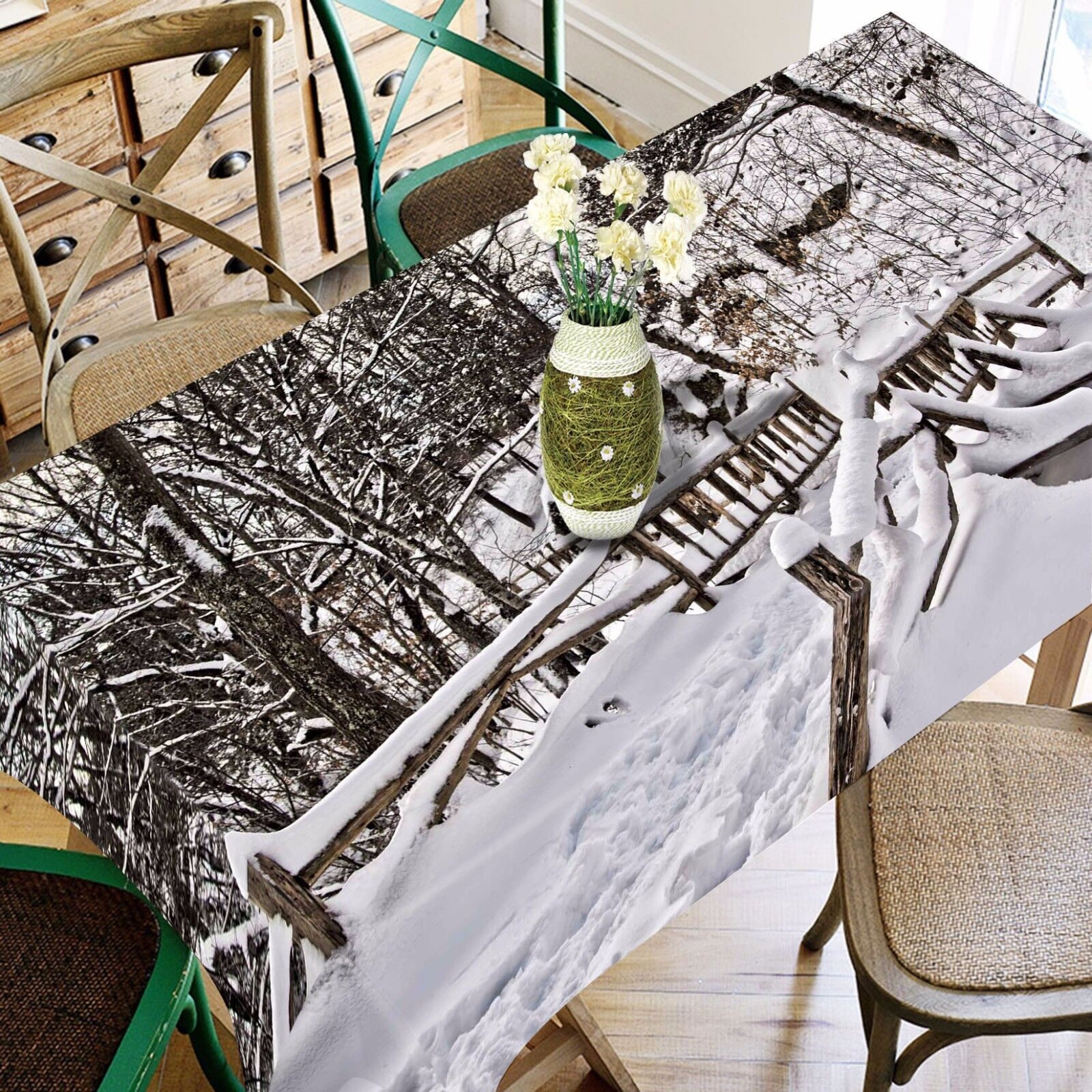3D Snow 4934 Tablecloth Table Cover Cloth Birthday Party Event AJ WALLPAPER AU