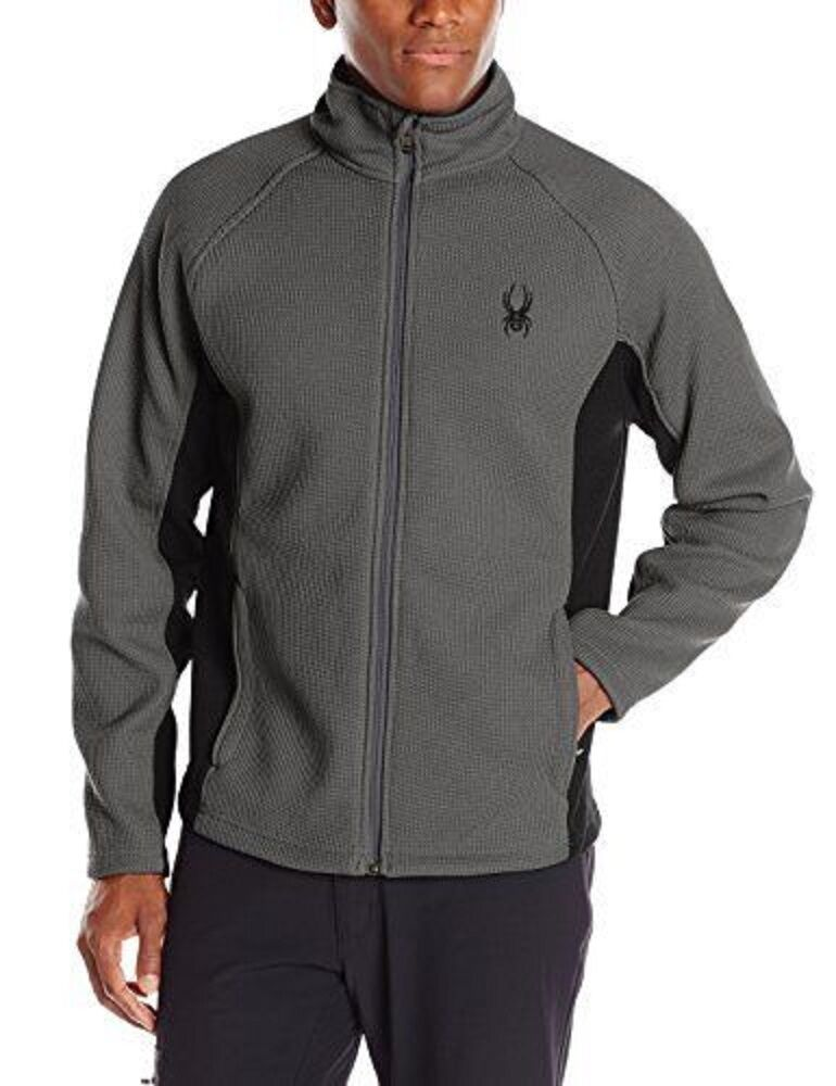 NWT  Herren Polar/Blk Spyder Constant Full Zip Mid weight core sweater Größe X-Large