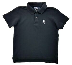 Psycho-Bunny-Polo-Black-Kids-Size-M-10-12-Boys-Collared-Shirt