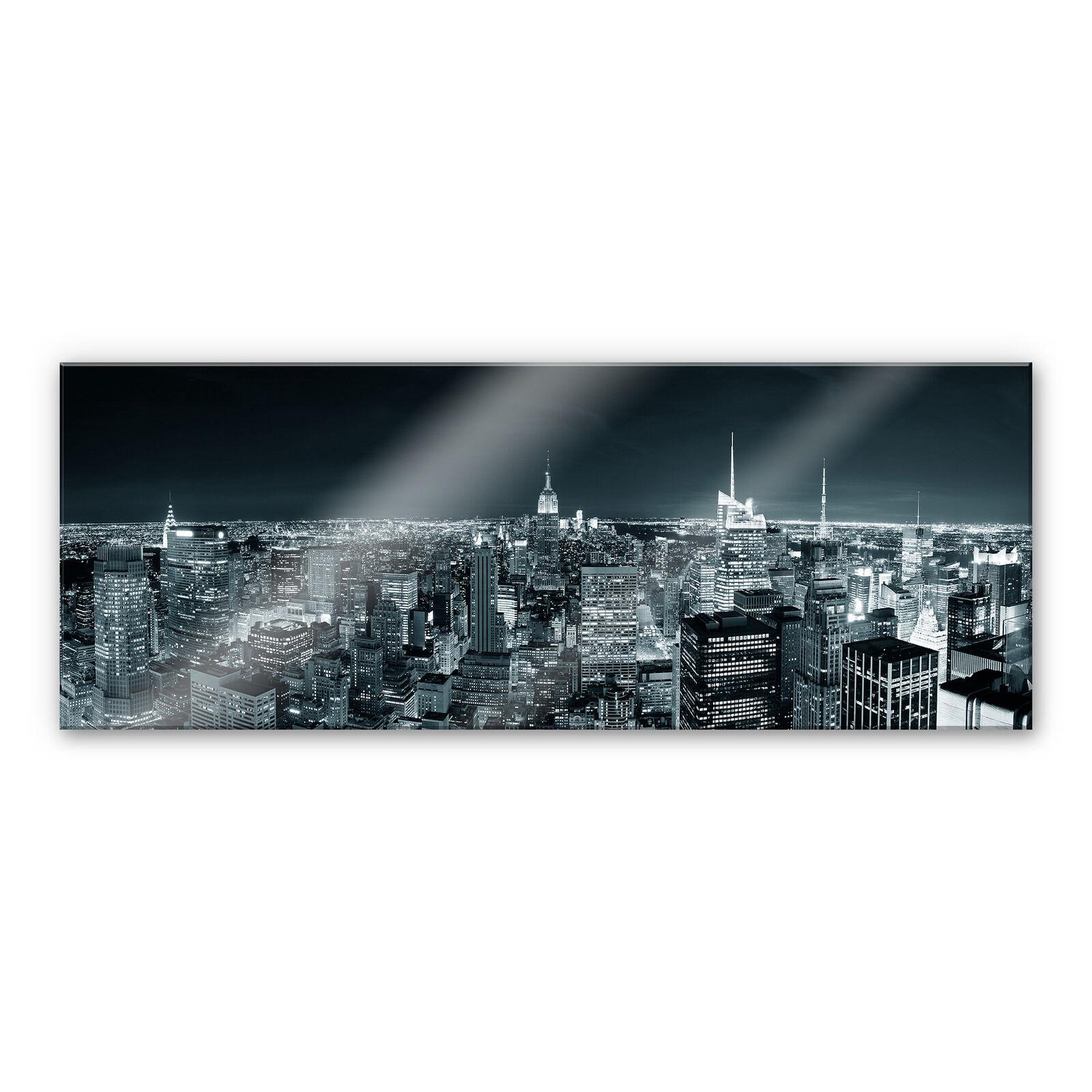 Design & Stil Acrylglasbilder Wandbilder aus Plexiglas® 125x50 Wald Wasserfall Natur Ab 2000