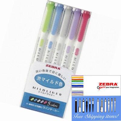 WKT7-5C-NC Zebra Mildliner 5 color Double-Sided Highlighter Marker