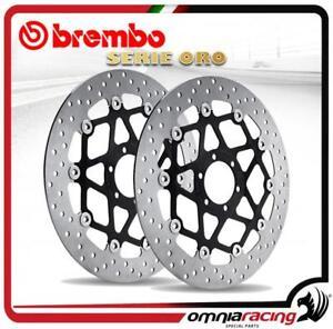 Pareja-discos-Brembo-Serie-Oro-flotante-Harley-Davidson-883-Sportster-2004-gt-2006