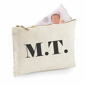 cd7d0cf2074b2 Personalised Baby Nappy Pouch/ Mini Changing Bag- 'Iniitials'- GIFT ...
