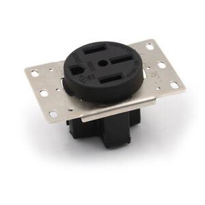 50A-125-250V-Industrial-Grade-Nema-14-50R-Straight-Blade-Us-Four-Holes-Socket-FE