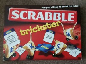Scrabble-Trickster-Family-Board-Game-Fun-Word-Letter-Mattel-COMPLETE-Christmas