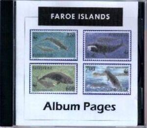 Faroe Islands CD-Rom Stamp Album 1919-2016 Color Illustrated Album Pages
