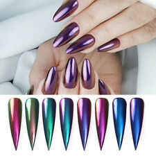 Chameleon Mirror Effect Chrome Pigment Dust Holographics Glitter Nail Art Powder
