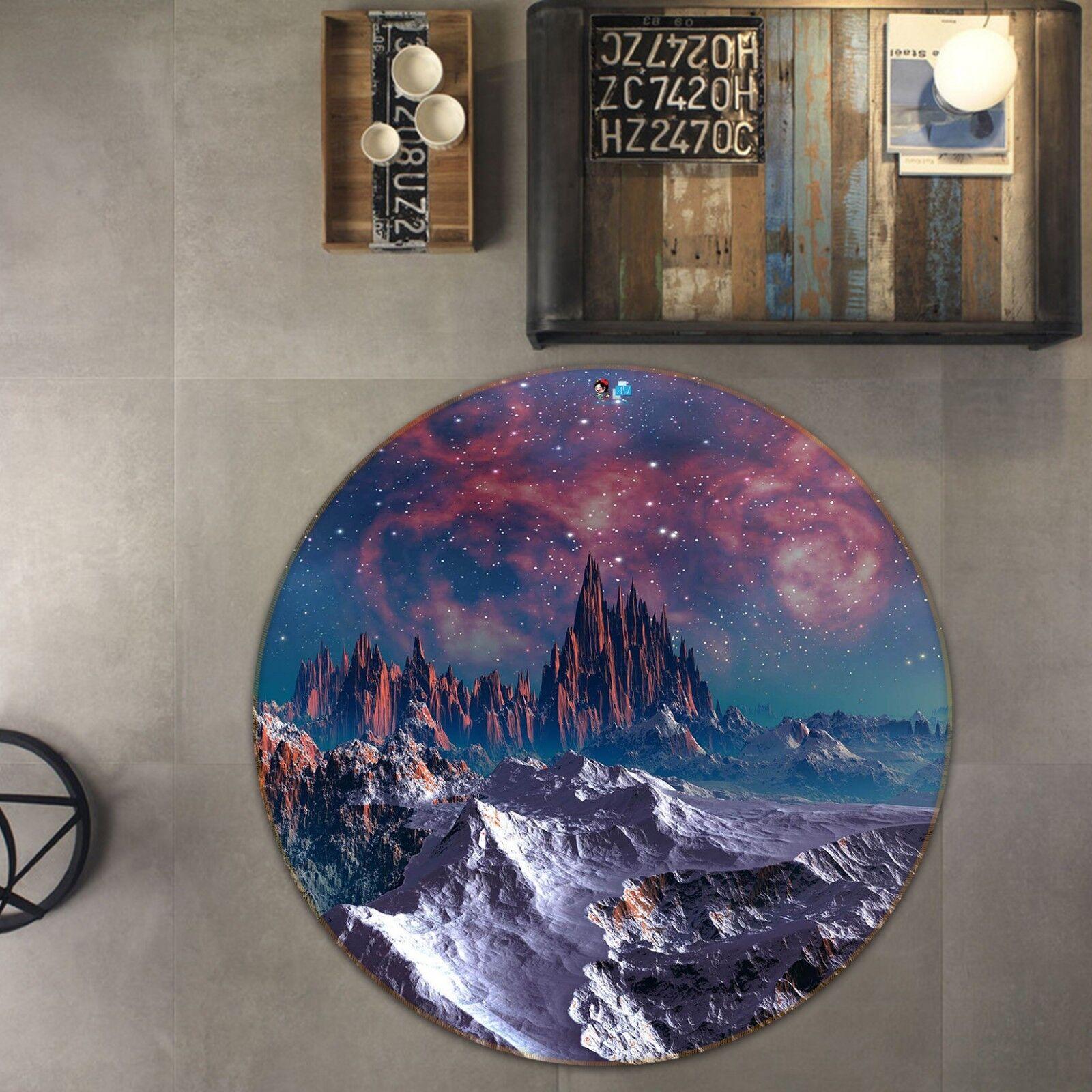 Corsie Di Moquette.3d Montagne Cielo 12 Pavimento Antiscivolo Tappeti Elegante