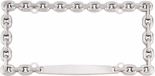 CHROME CHAIN LICENSE PLATE FRAME UNIVERSALCAR TRUCK  FRONT//REAR PLATE