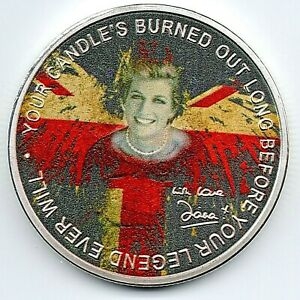 Princess Diana Silver Coin Mexit Autograped Candle in the Wind Elton John Song