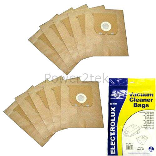 e42n Sacchetti per aspirapolvere per Electrolux z1800 a z1899 Hoover UK e42 10 x e10