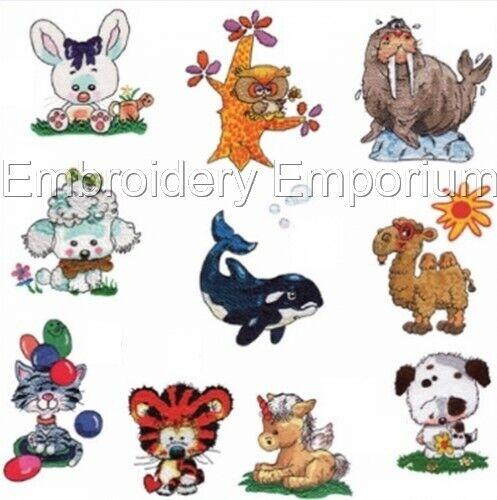 Happy Pals Colección-diseños de bordado de la máquina en CD o USB