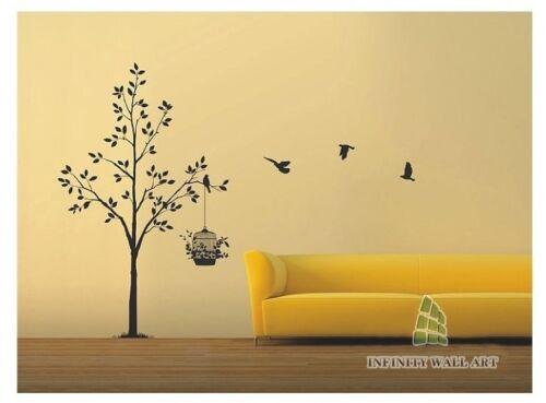 Wall Stickers Tree Flower Kids Art Murals Decals Butterfly Home Vinyl Decor-P370
