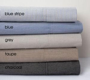 Bambury French Linen Sheet Set Fitted Sheet Depth 50cm Pebble