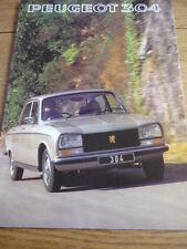 PEUGEOT 304 SALES BROCHURE 1977   jm