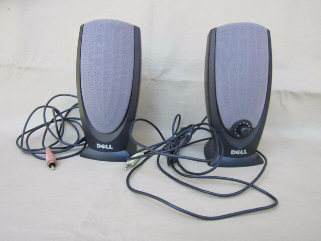 Dell A215 Computer Speakers Includes the Adapter 1 Pair Check Um Out Pre Owned!