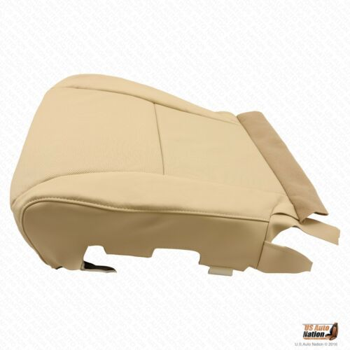 2010 Lexus RX350 Driver Side Bottom Perforated Leather Seat Cover Color Tan
