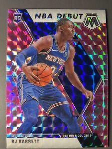 Rj-Barrett-Rookie-Card-Panini-Mosaic-Pink-Mosaic-Prizm-2019-20-New-York-Knicks