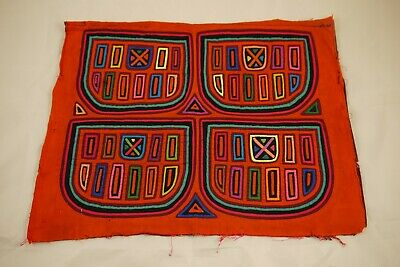 Originale Mola Indigena Kuna Panama Trachten Arte Popolare Indiani A Mano-mostra Il Titolo Originale Avere Sia La Qualità Della Tenacia Che La Durezza
