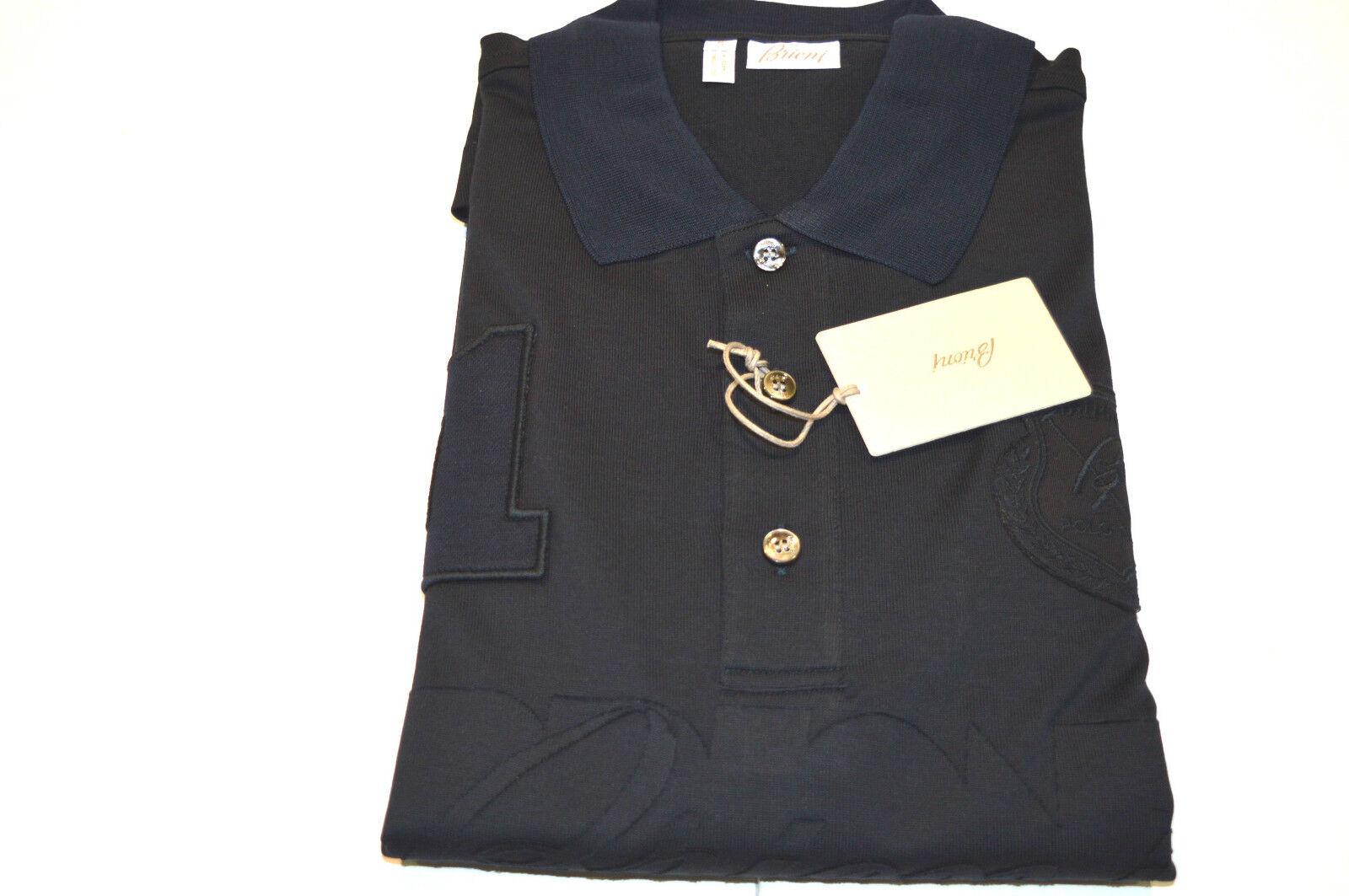 NEW BRIONI  Polo 100% Cotton  Long sleeve  Größe XL Us 54 Eu (Cod stemmC)