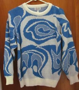 Knit Parrinello Butterfly Phantom Sweater Glacial Lrg Crewneck 1980's Icy Up5pPZqan