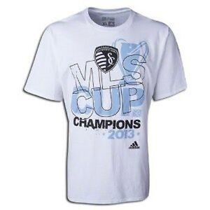 Sporting-Kansas-City-2013-MLS-Cup-Champions-t-shirt-Adidas-NWT-MLS-KC-Soccer
