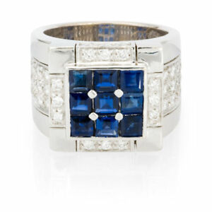 55bddbb6d3ba Image is loading LEO-PIZZO-18K-WHITE-GOLD-DIAMOND-AND-BLUE-