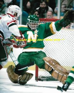 Details About Don Beaupre Big Kick Save In Net 8x10 Photo Minnesota North Stars Star Goalie