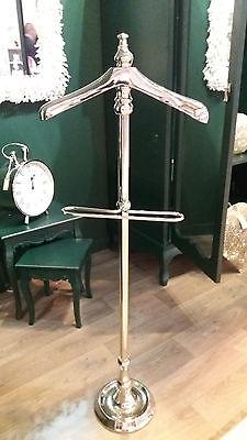Indipendente Splendida Donna Uomo Lucidato Argento Nichel Cromo Valet Stand-mostra Il Titolo Originale Con Una Reputazione Da Lungo Tempo