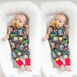Newborn-Infant-Baby-Boy-Summer-Playsuit-Jumpsuit-Romper-Outfits-Bodysuit-Clothes