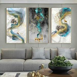 Wall Art Abstract Vertical Rectangle Canvas Print Modern Living Room Decorations Ebay