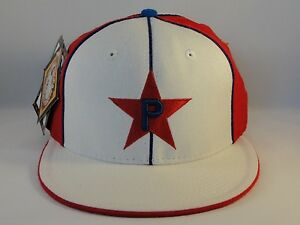 bc999a004 Details about Philadelphia Stars Negro League Headgear Size 7 1/8 Fitted  Hat Cap White Red