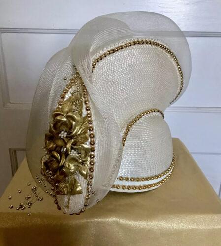 """Vintage """"DARNELLE'S ORIGINAL"""" Hat/Fascinator 40s … - image 1"""
