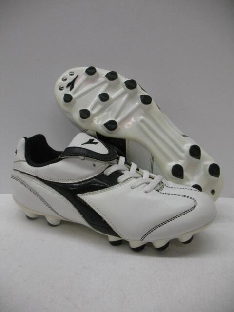 d5c5736538 Diadora Brasil MD PU Junior Soccer Shoes Cleats White Boys Girls Kids Youth  4