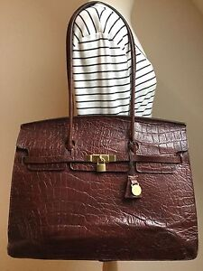 Image Is Loading Vintage Mulberry Congo Nile Leather Kelly Lge Structured