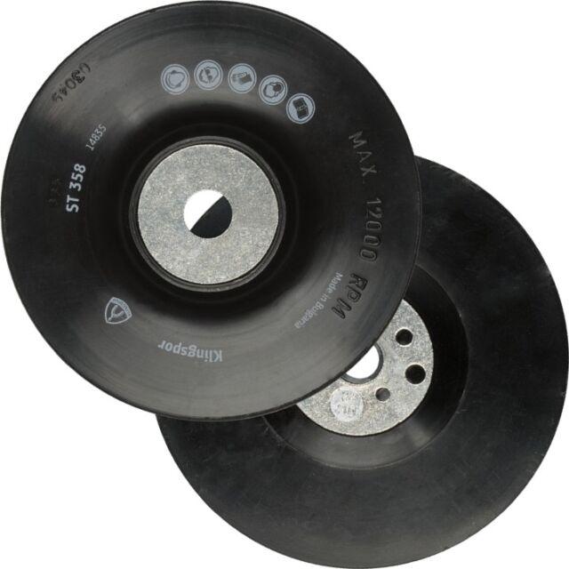 KLINGSPOR Gummiteller für Fiberscheiben 115-125-150-180-230mm Schleifteller