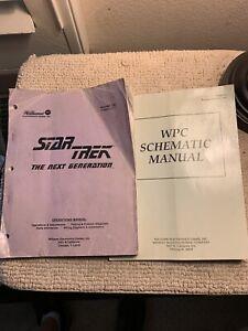 original Star Trek Next generation Set Bally pinball MACHINE manual