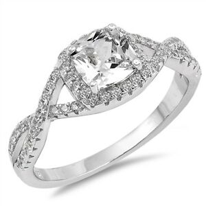 Sterling-Silver-925-Princess-Cut-Halo-Heart-Promise-Infinity-Ring-Sizes-5-10