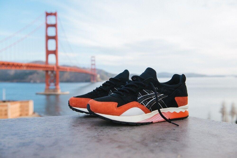 US size 9.0 BAIT x Asics Gel Lyte V Bay Misfits Black Giant Orange